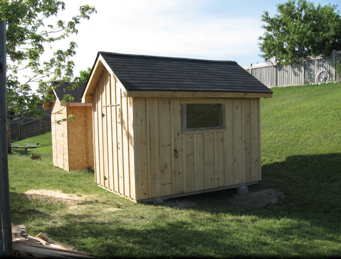 Shed is complete and ready for use.